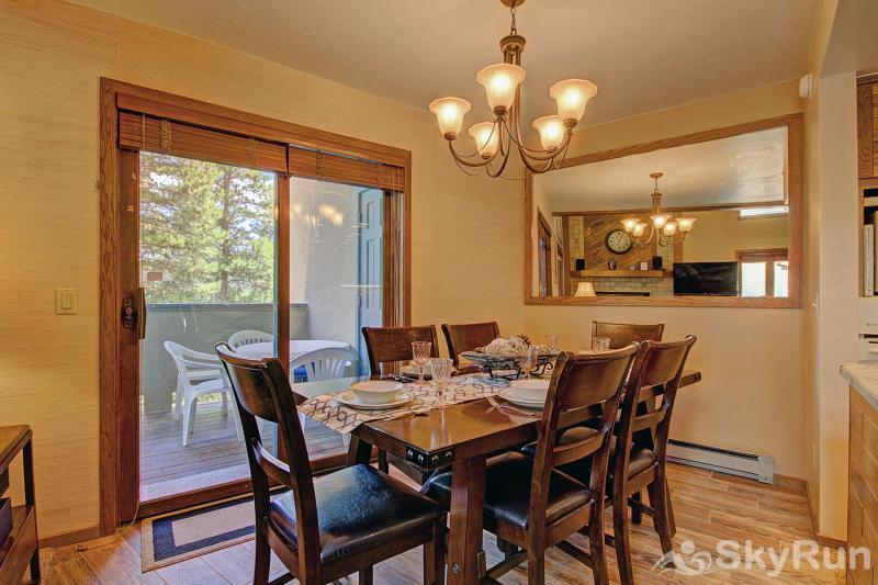 Chimney Ridge 512 Dining area with access to the patio