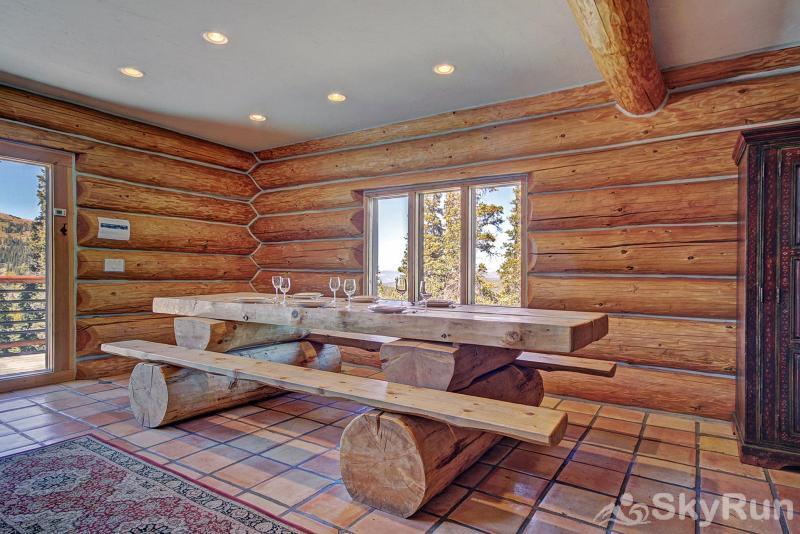 Quandary View Lodge Log dining room table