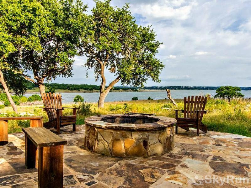 WINE DOWN LAKE ESCAPE Campfire Area with View of Canyon Lake