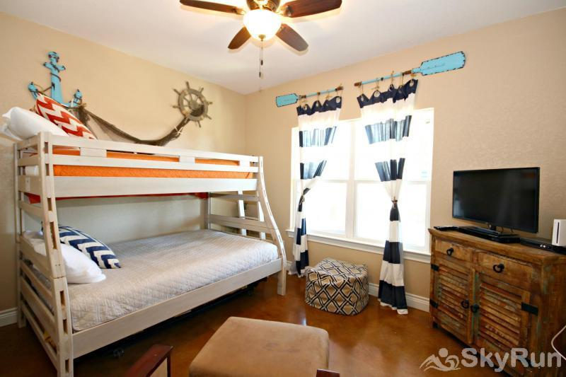 WINE DOWN LAKE ESCAPE Third Bedroom with Twin- Over- Full Bunk Bed
