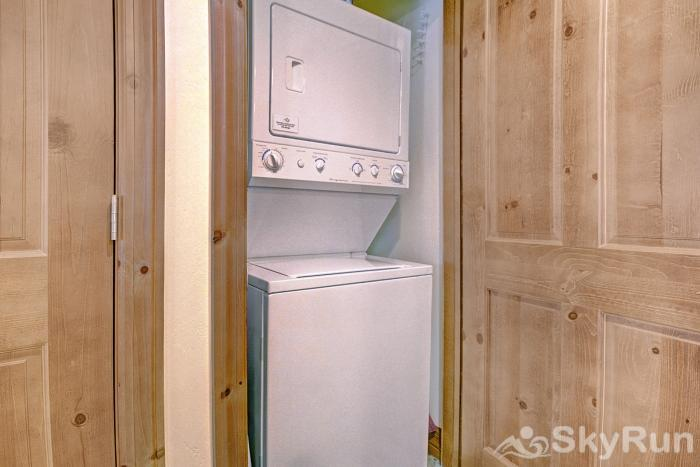 Highland Greens Lodge 301 Stackable washer/dryer in unit