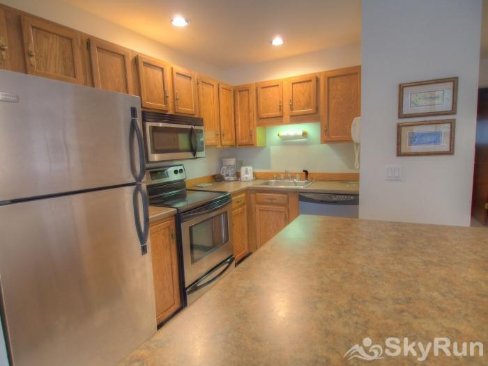 Sugarbush 1-bedroom Mountainside Bright Kitchen