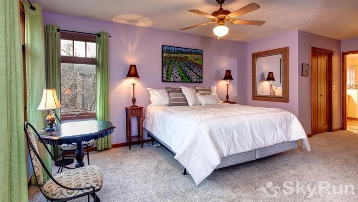 Charming Stone Home DV Drive Master Bedroom