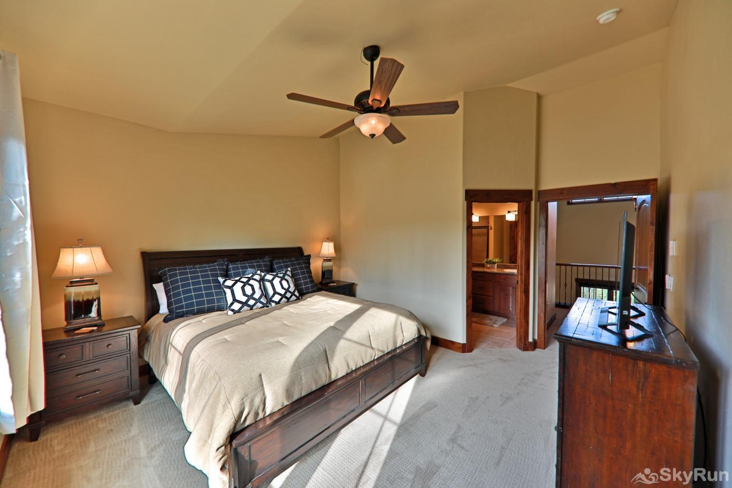 Beautiful & spacious townhome w/ 3 master suites + bunk room.  Mountain Views & private deck. Sleeps Master Bedroom #2