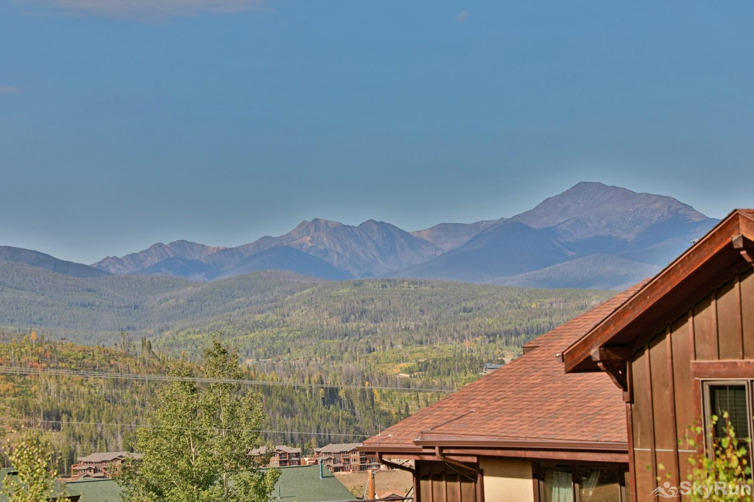 Beautiful & spacious townhome w/ 3 master suites + bunk room.  Mountain Views & private deck. Sleeps View From Private Deck