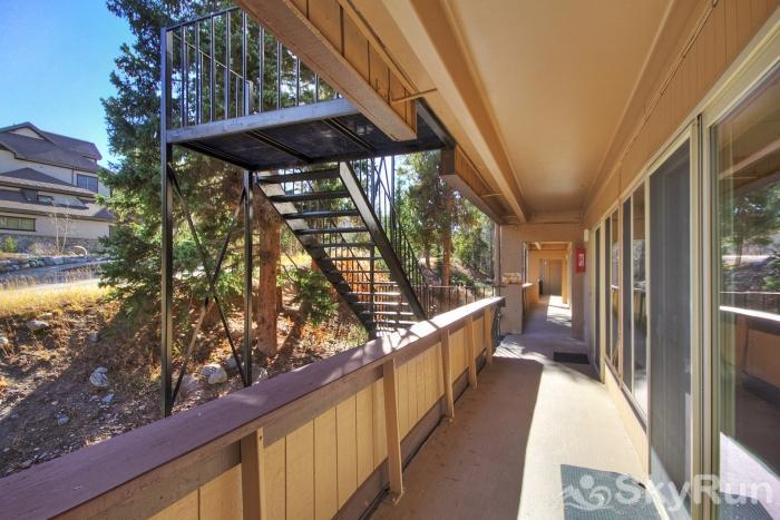 The Lift A102 Unit accessible via outdoor stairway