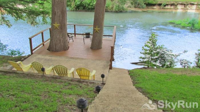 STAR OF TEXAS AND COTTAGE COMBO Deck Space with Easy Access to the Guadalupe