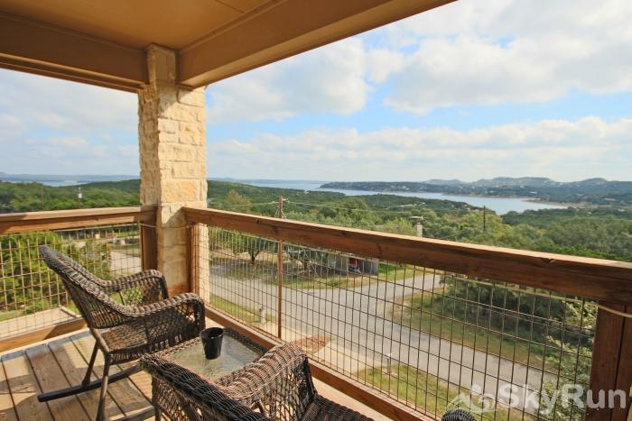 THREE'S A CHARM View of Canyon Lake from Master Bedroom Deck