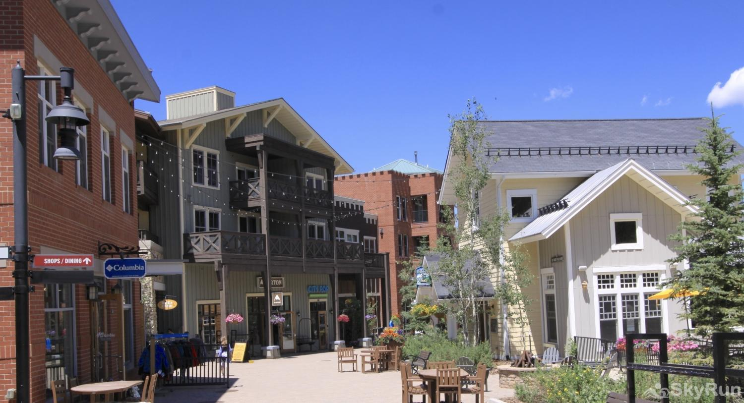 Location! Walk to restaurants, grocery, ski bus stop Winter Park Resort in Summer