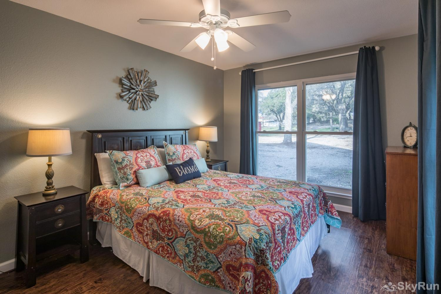 HONEY HAUS ON THE HORSESHOE First Bedroom with Queen Bed
