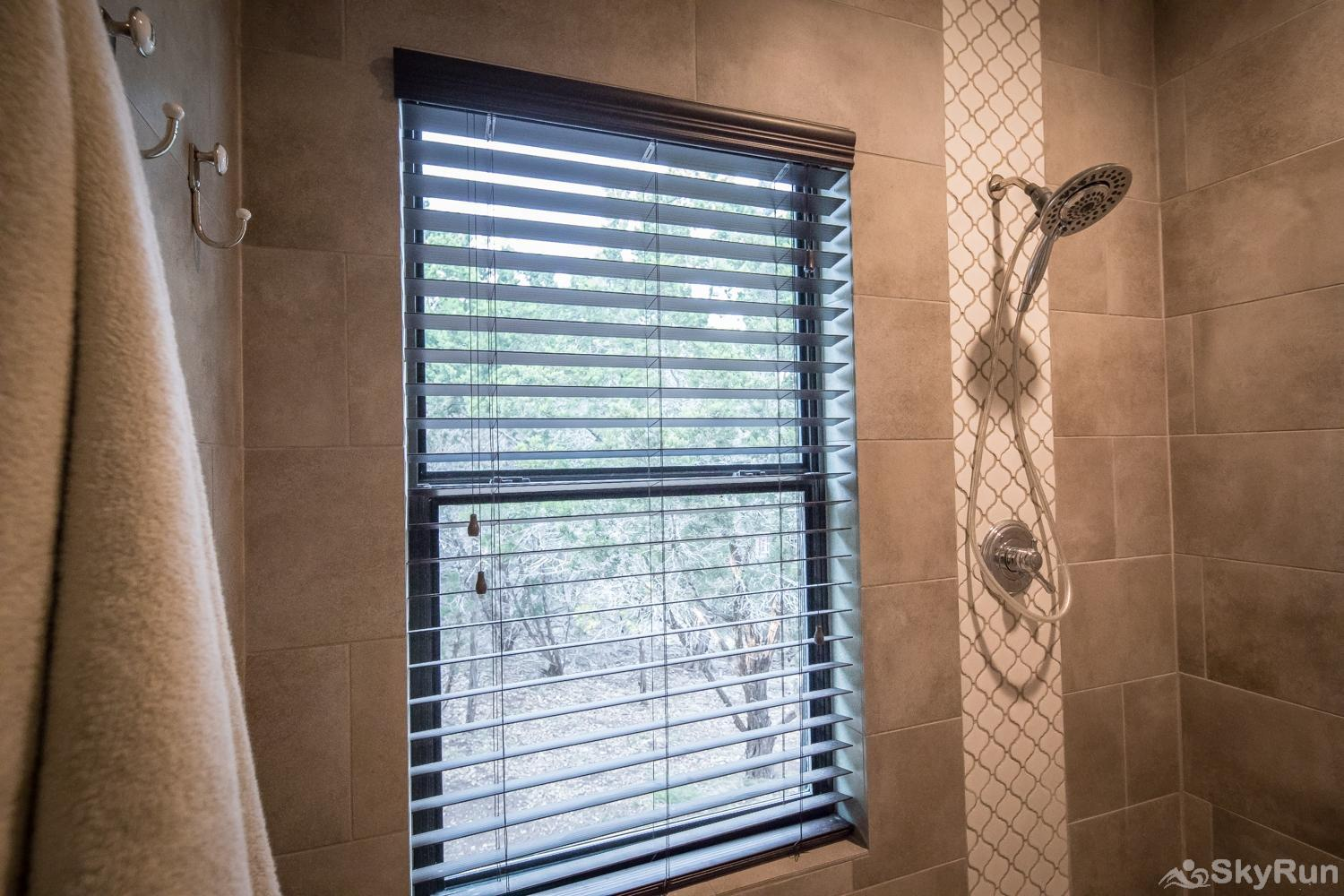 MAGNOLIA HAUS Walk in Shower in Master Bathroom