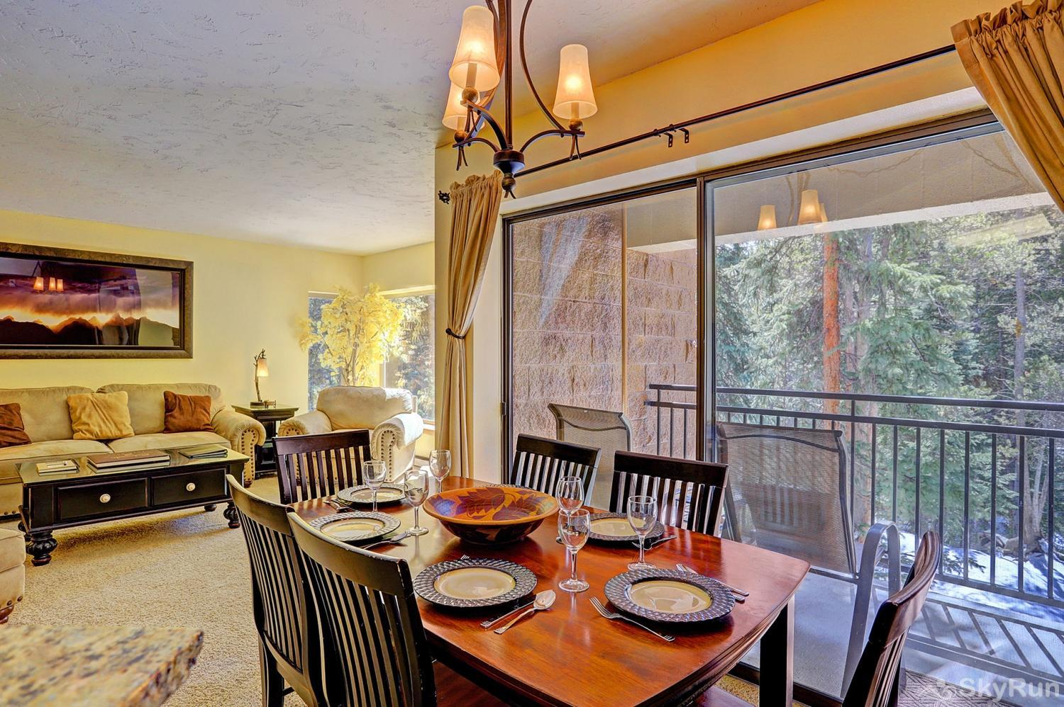 Powderhorn C202 Dining area with a view!