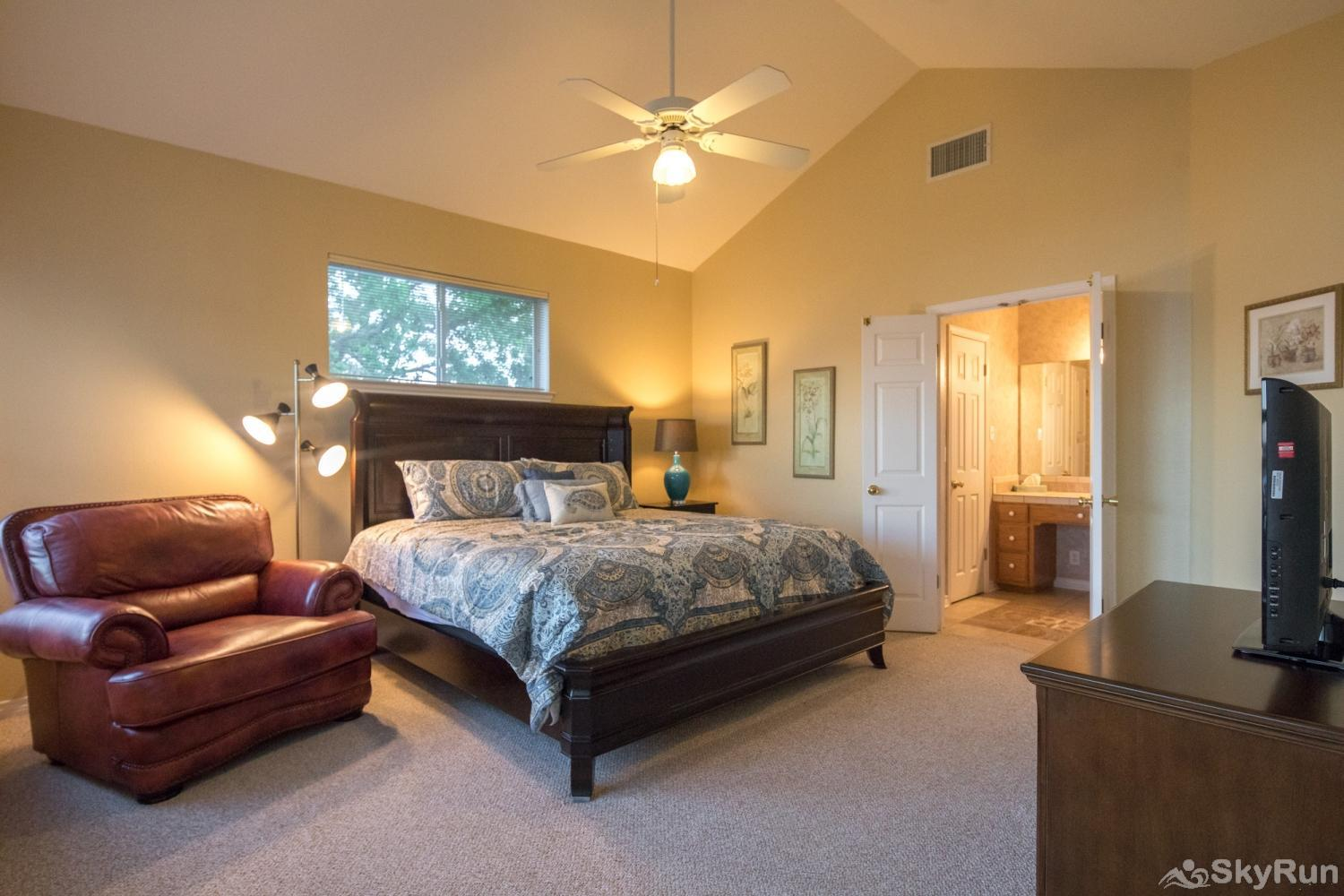 BUCKHAVEN RIDGE Large Master Bedroom with King Bed and HDTV