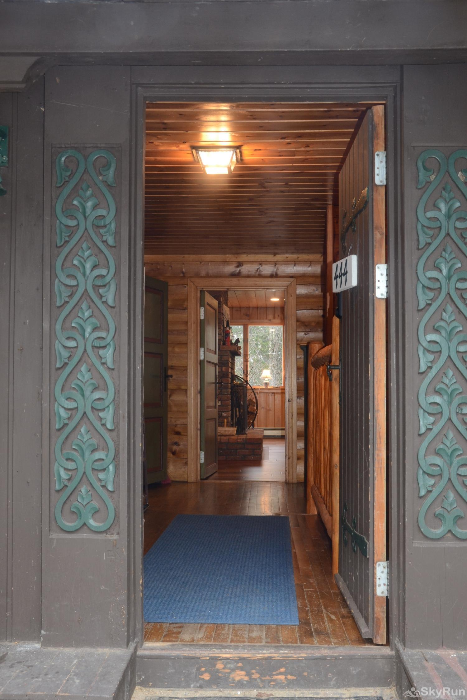 Norwegian Lane House Entrance to the cabin