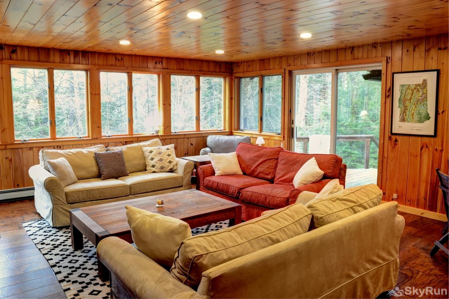 Norwegian Lane House Hardwood living room with fireplace