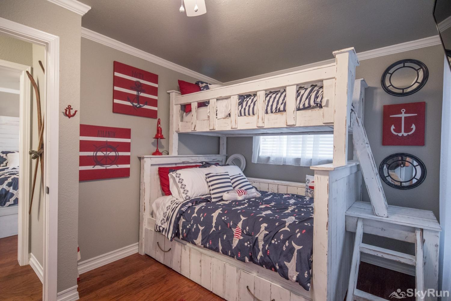 ANCHORS AWAY Kid's bunk room decorated in style