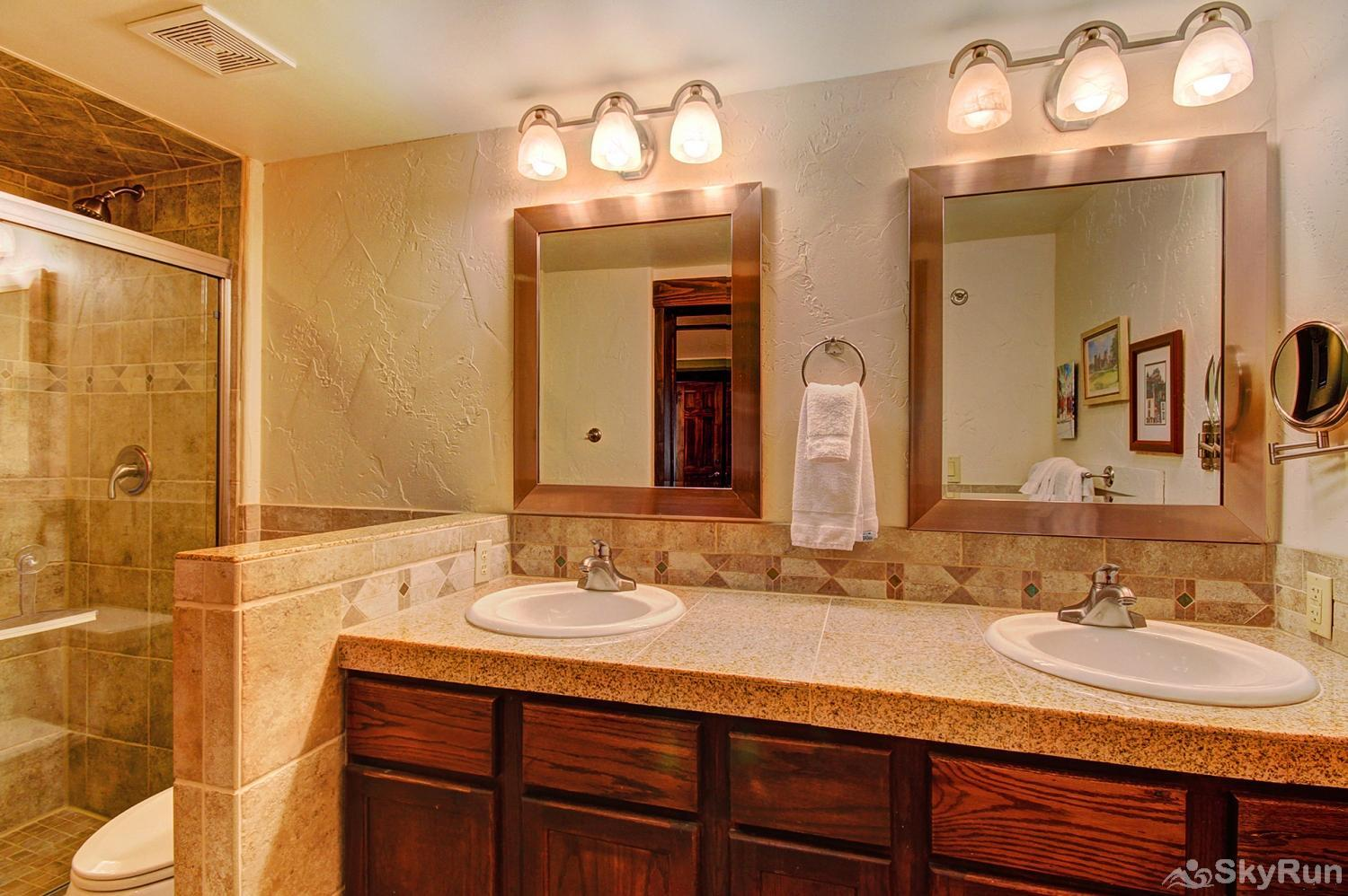 The Lift C12 King master ensuite bathroom with 2 sinks