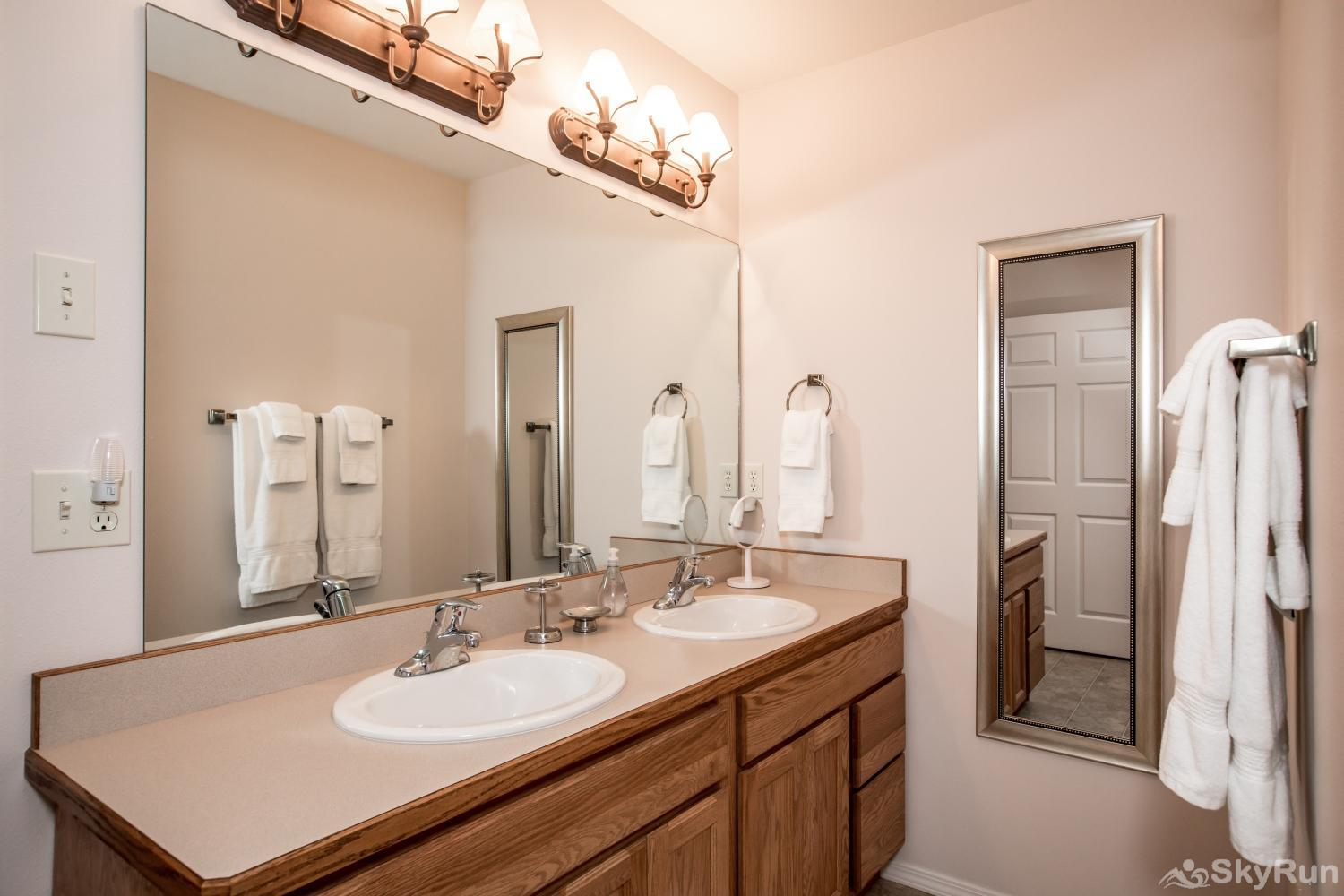 Red Fox Hollow Master bathroom double sink