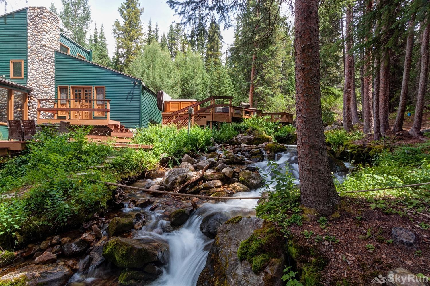 Creekside Chateau Secluded creekside Breckenridge home