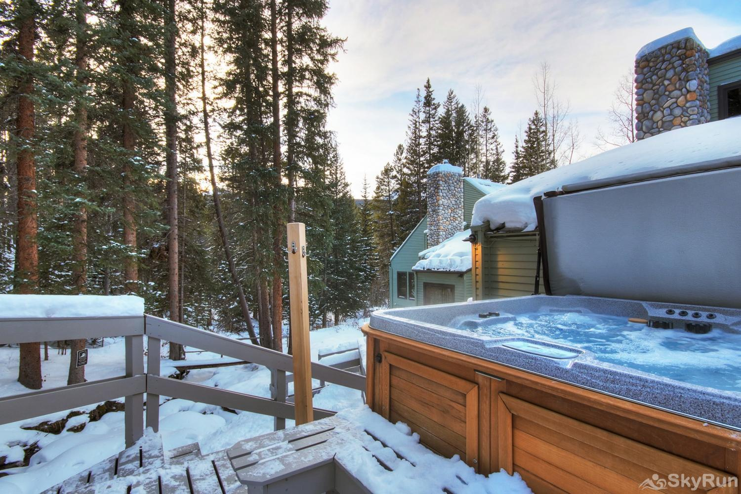 Creekside Chateau Enjoy a soak in your private outdoor hot tub