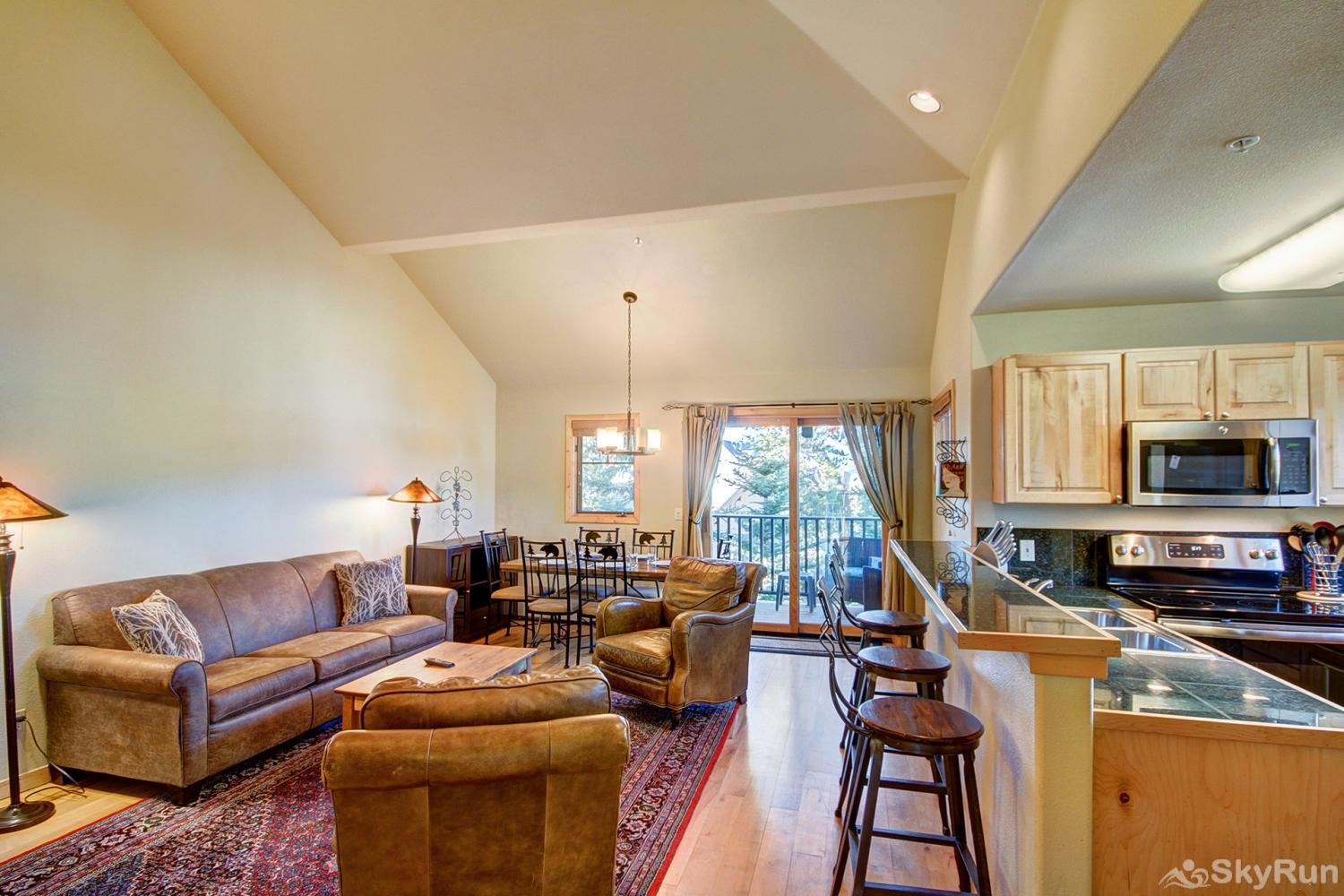 Twin Elk Lodge D16 Open floor plan living area conducive for socializing with friends and family