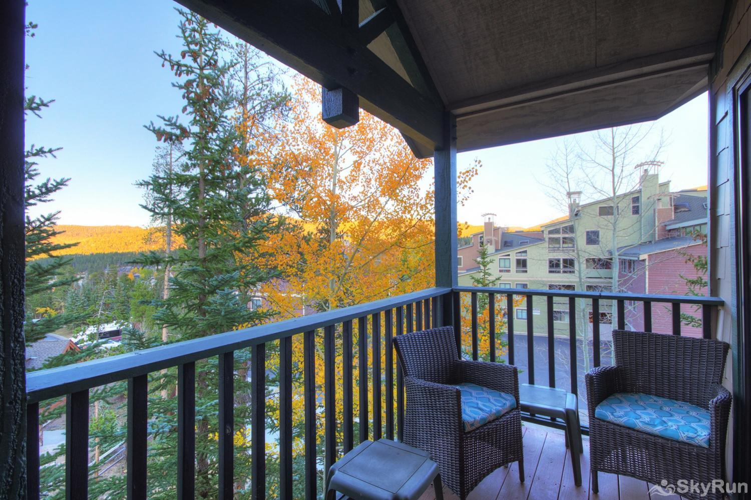 Twin Elk Lodge D16 Private balcony with seating