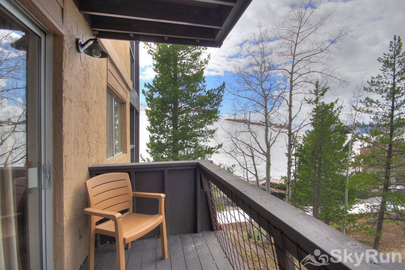 Storm Meadows East E31 Watch the skiiers from your very own private balcony .