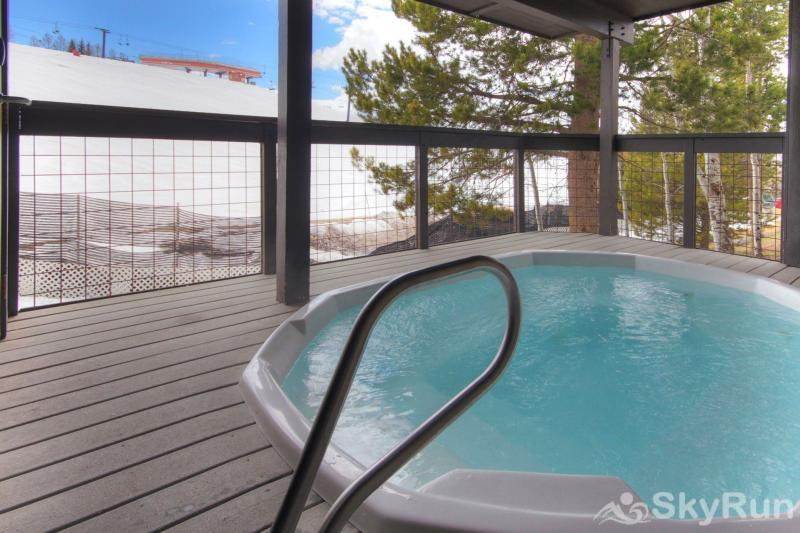Storm Meadows East E31 The hot tub has an incredible view of the slopes!