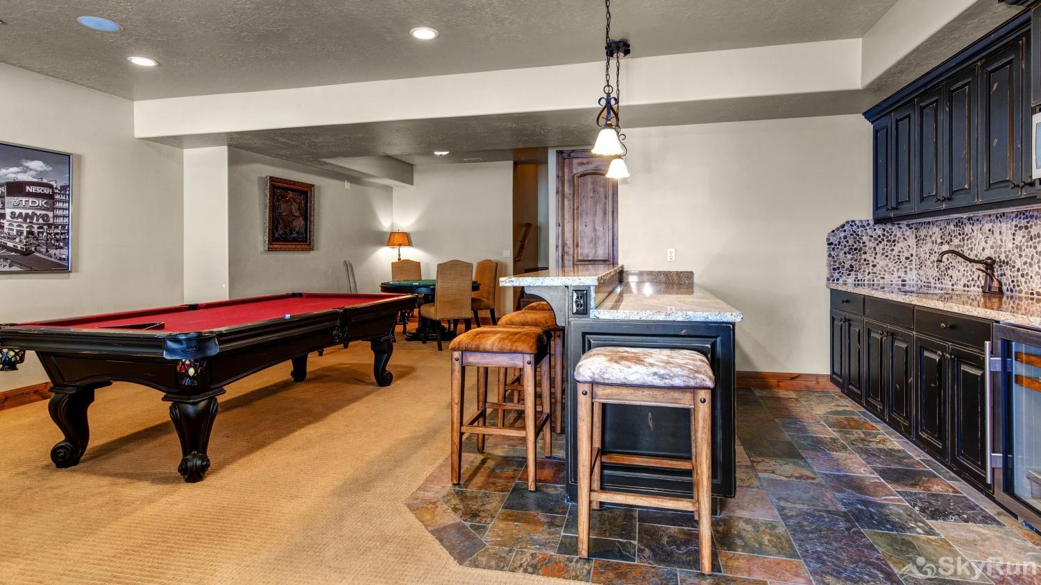 Stillwater Shores 1273 Wet Bar and Pool Table