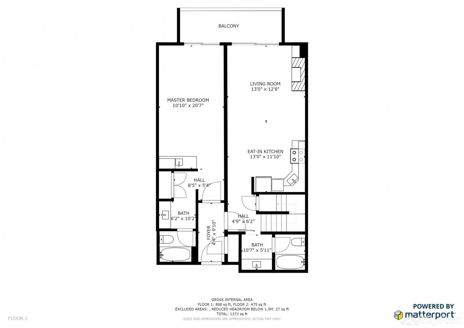Ski Village Loft 3BR Floor Plan Main Level