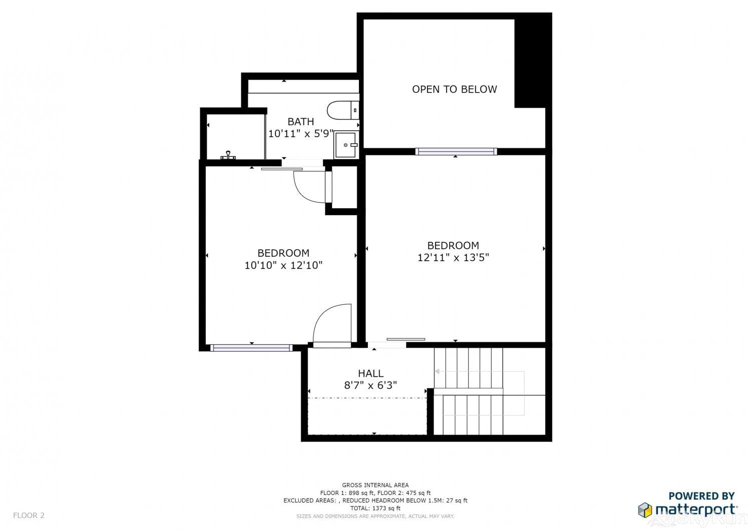 Ski Village Loft 3BR Floor Plan Upper Level