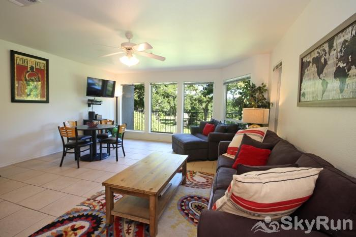 WATERWHEEL RIVER CONDO Spacious Family Room with Open Floor Plan