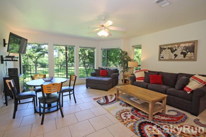 WATERWHEEL RIVER CONDO Family Room and Dining Area