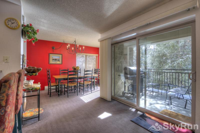 Powderhorn C201 Dining Room and covered back deck